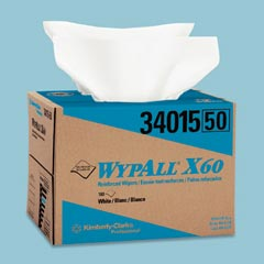Kimberly Clark KCC34015 WYPALL X60 TERI WIPERS,WHITE
