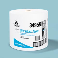 Kimberly Clark: WYPALL X60 TERI WIPERS,WHITE
