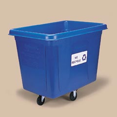 "16 CU. TRUCK RECYCLE"" BLUE """