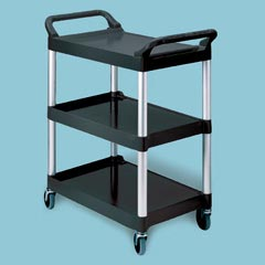 UTILITY CART 3 SHELF PLATINUM