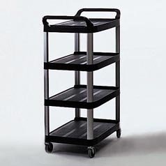 UTILITY CART,X-TRA,BLACK,4 SHELF