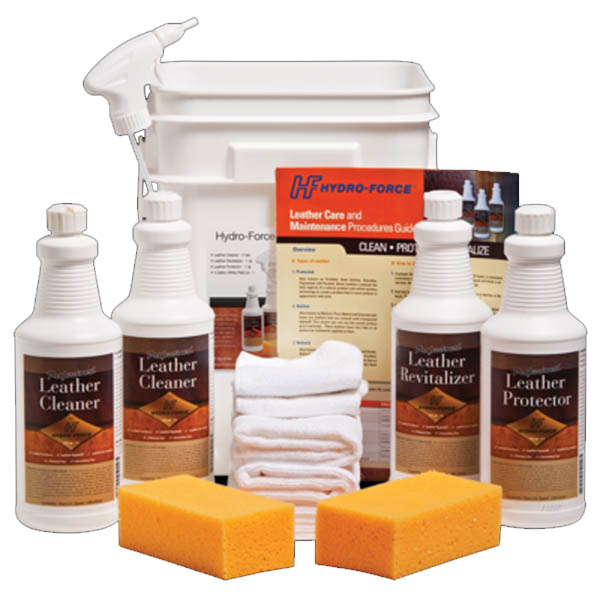 Hydroforce Leather Cleaning Starter Kit Training Chemicals
