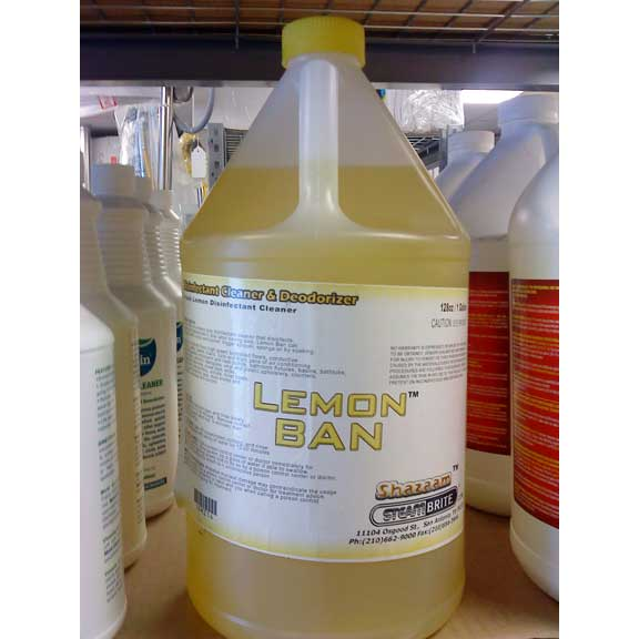 Shazaam SBM214 Lemon Ban Antimicrobial Deodorizer and Cleaners One Gallon