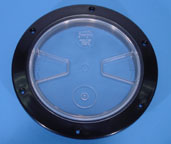 Clear 6 inch Waste Tank Lid Universal Vacuum Lid Flat top 2086A  G056 [260-64A]  Cover 8.680-603.0