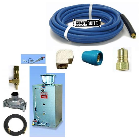 Little Giant 3HTLPSQXP 120000 BTU Propane Extreme Pressure Water Heater 2200psi Complete Starter Package [20140930]