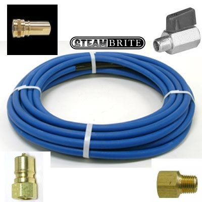Clean Storm B004-160 ft 3000 psi Solution Hose 1/4 id w/Fittings & bend protection (formerly B004-150)
