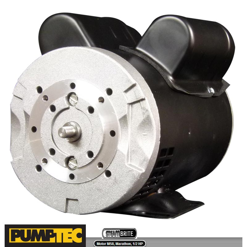 Pumptec M58 Motor Only Dual Voltage MARATHON, 1/2 HP, 120/230V, 5.2/2.6A, 50/60Hz, 48 FRAME, 205 (used on Mytee) Replaces M4  86364370