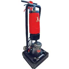 Mercury Floor Machine DS18 One-Touch Dry Square Scrub Floor Machine 6-Quart Backpack DS-18 1725 RPM 12x18in