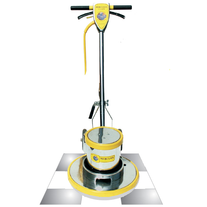 Mercury Hercules H-17E-230v 17in  1.5hp  175 rpm Floor Machine 230 volt (for international use)