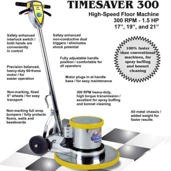 Mercury HSP-19-240v - Timesaver 19in 1.5hp 300rpm Floor Machine 240 volts for International Use