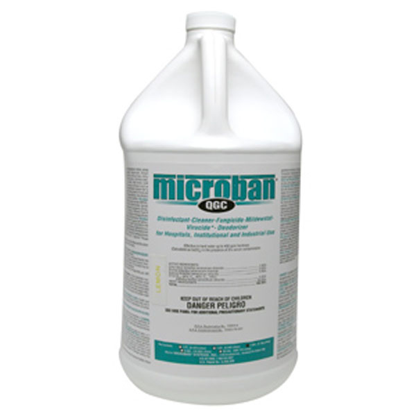 Chemspec Microban QGC Mediclean Germicidal Cleaner Concentrate Lemon Case of 4 Gallons Prorestore UnSmoke MB1592909 221592909 FREE Shipping