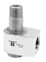 Mosmatic 40.028 90° Swivel, stainless WDG 1/4 in. NPT F 1/4 in. NPT M