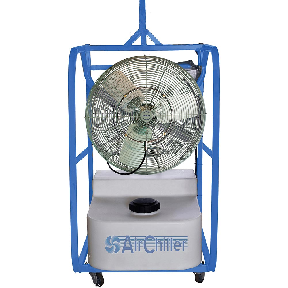 Air Chiller EX-24 Inch Misting Fan Evaporative Cooler 12000 cfm 32 gallon with Roll Cage Explosion Proof