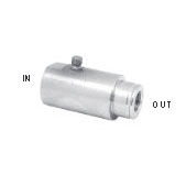 "Mosmastic 29.018 Nozzle socket with snap-lock stainless LAZ G1/4""F 1/8""NPT-F"