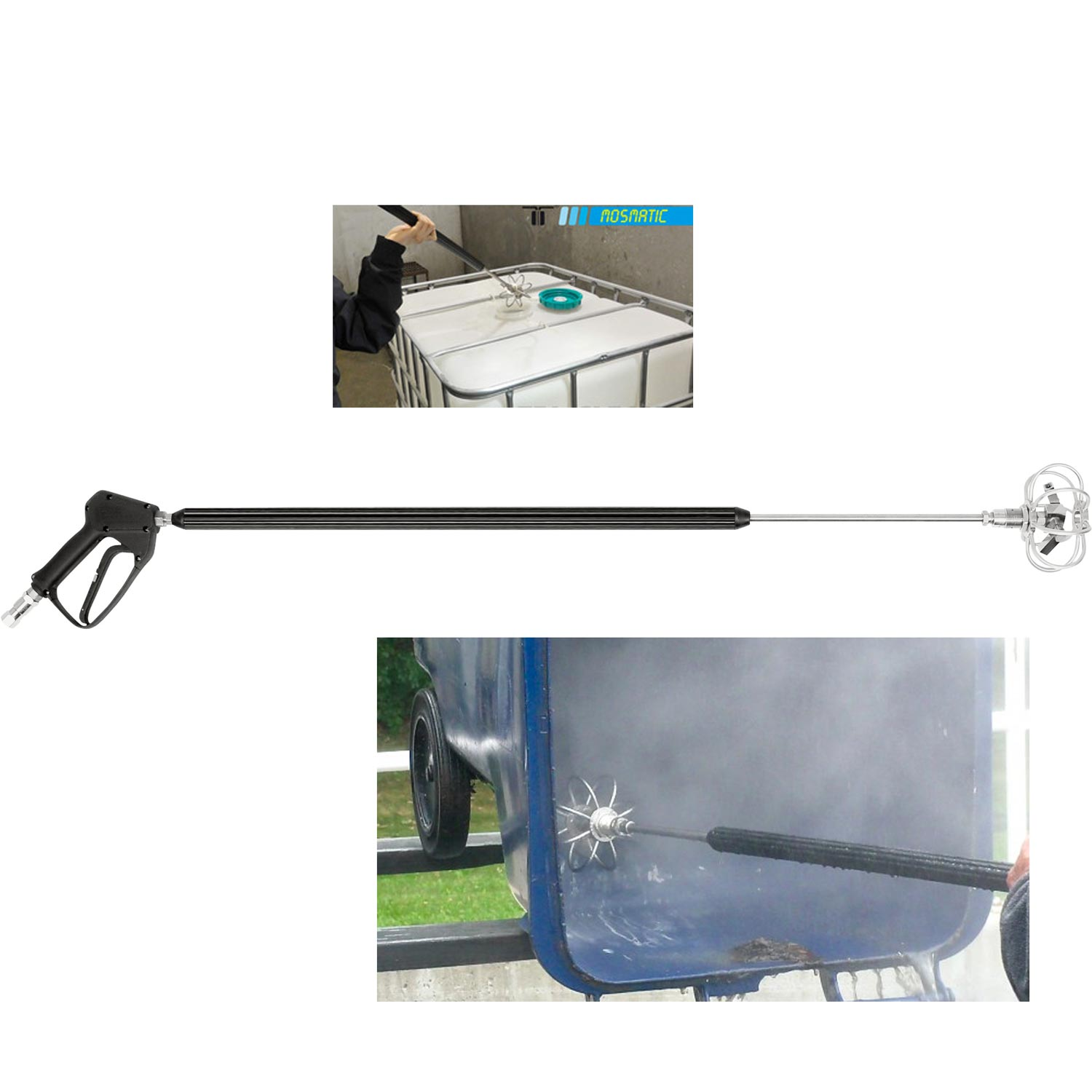 Mosmatic 81.925 Turbo Cleaning TRL Lance with Gun for Wheelie Bin and Tank Cleaning