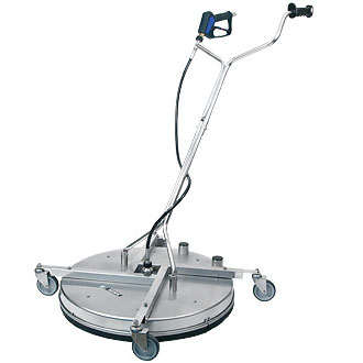 "Mosmatic 80.785 Professional FL-AH 30"" Surface-Cleaner Double vacuum Air Water Recovery Castors (3x 1/8""NPT F)  5000psi"