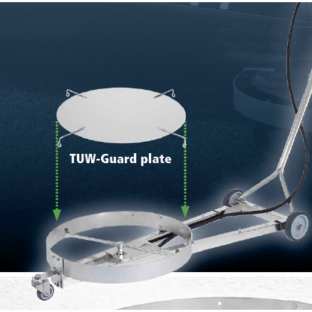 Mosmatic 80.621 TUW-520 21 Guard Plate Undercarriage cleaning wand