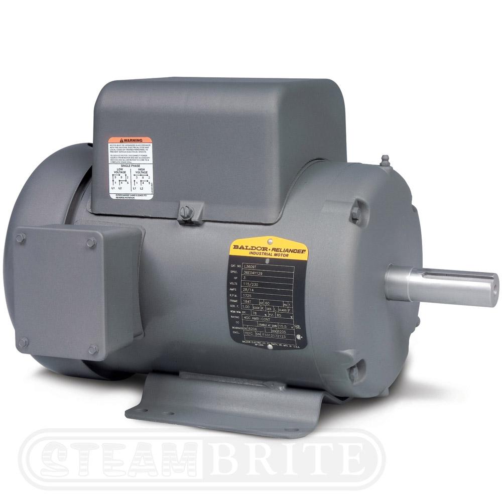 Baldor motor l3709t single phase 3450 rpm for Single phase motor price
