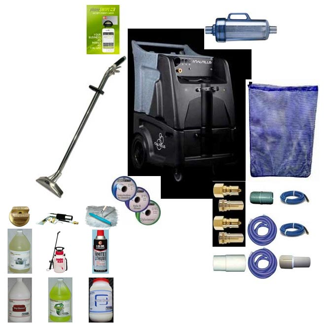 Nautilus Extreme MXE-200 12gal 200psi Dual 8.4in Vacuums Starter Bonus Bundle Hoses Wand Carpet Cleaning Machine freight included