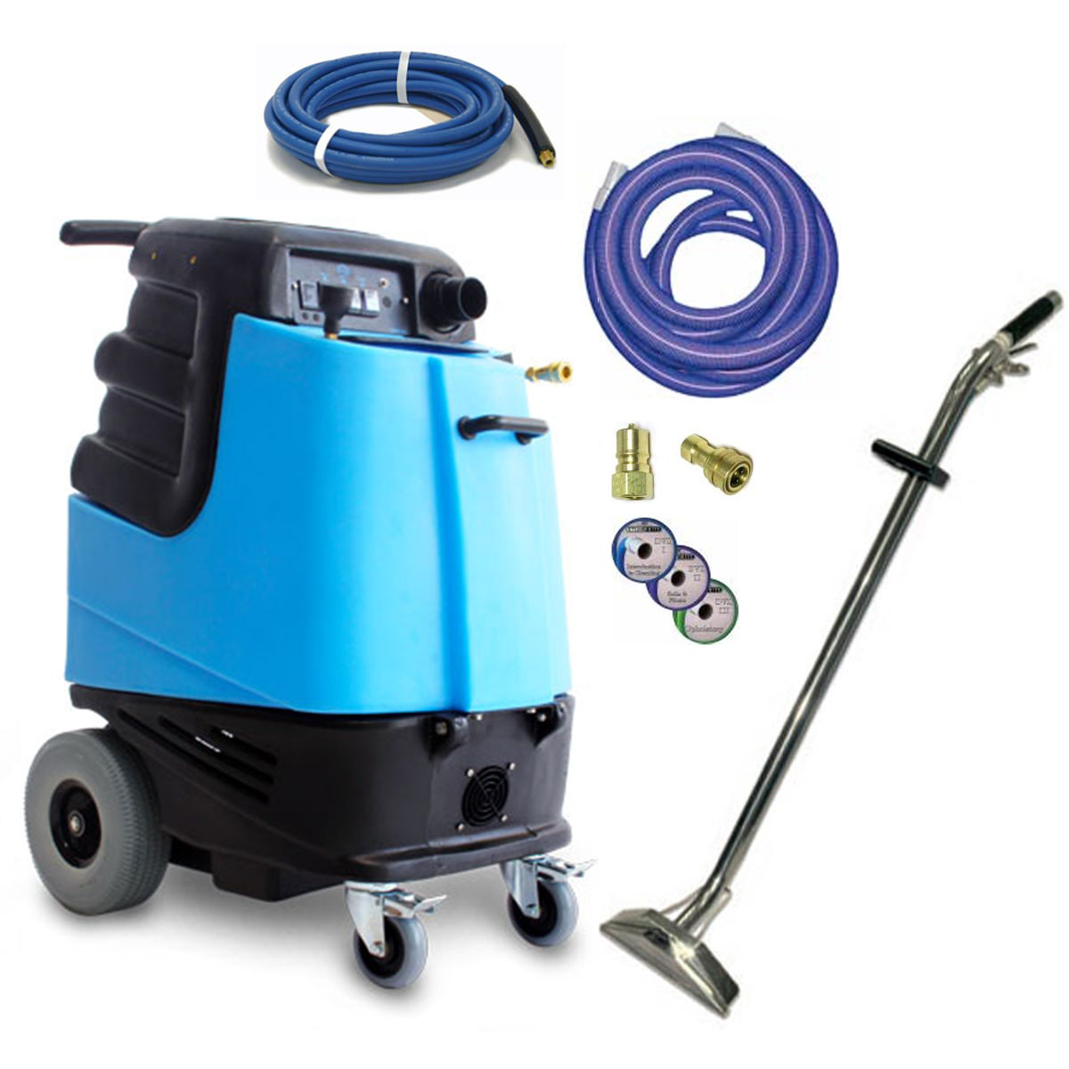 Mytee 1000DX-200 12gal 200psi Dual 2 Stage Vacs Carpet Upholstery Extractor Single Power Cord Hose Set Wand
