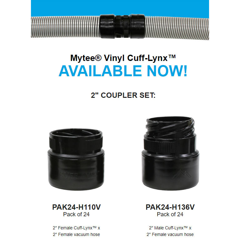 Mytee 24 Pack of Male Vinyl Hose Cuffs PAK24-H136V