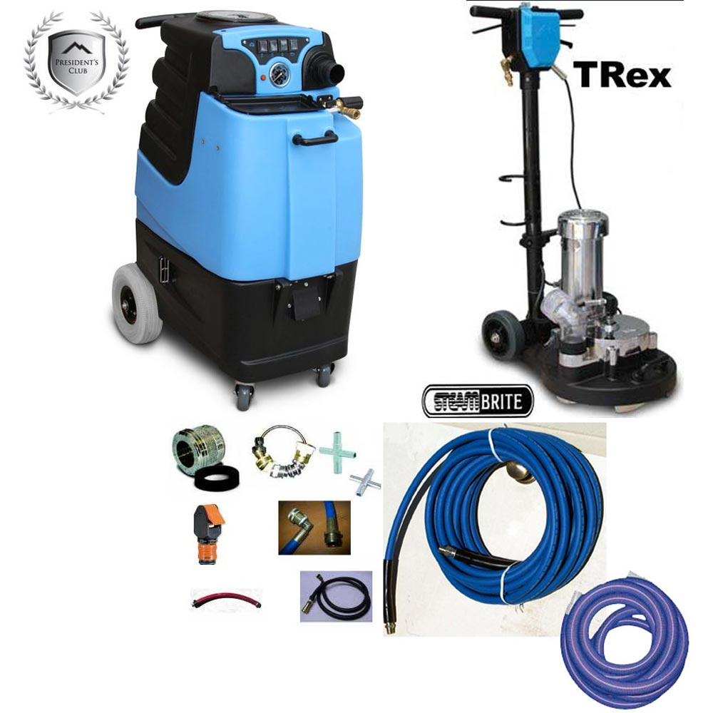 Mytee LTD5 + TRex DEMO 15gal 500psi Dual 3 Stage Vacs Auto Fill Auto Dump Carpet Upholstery Extractor Package