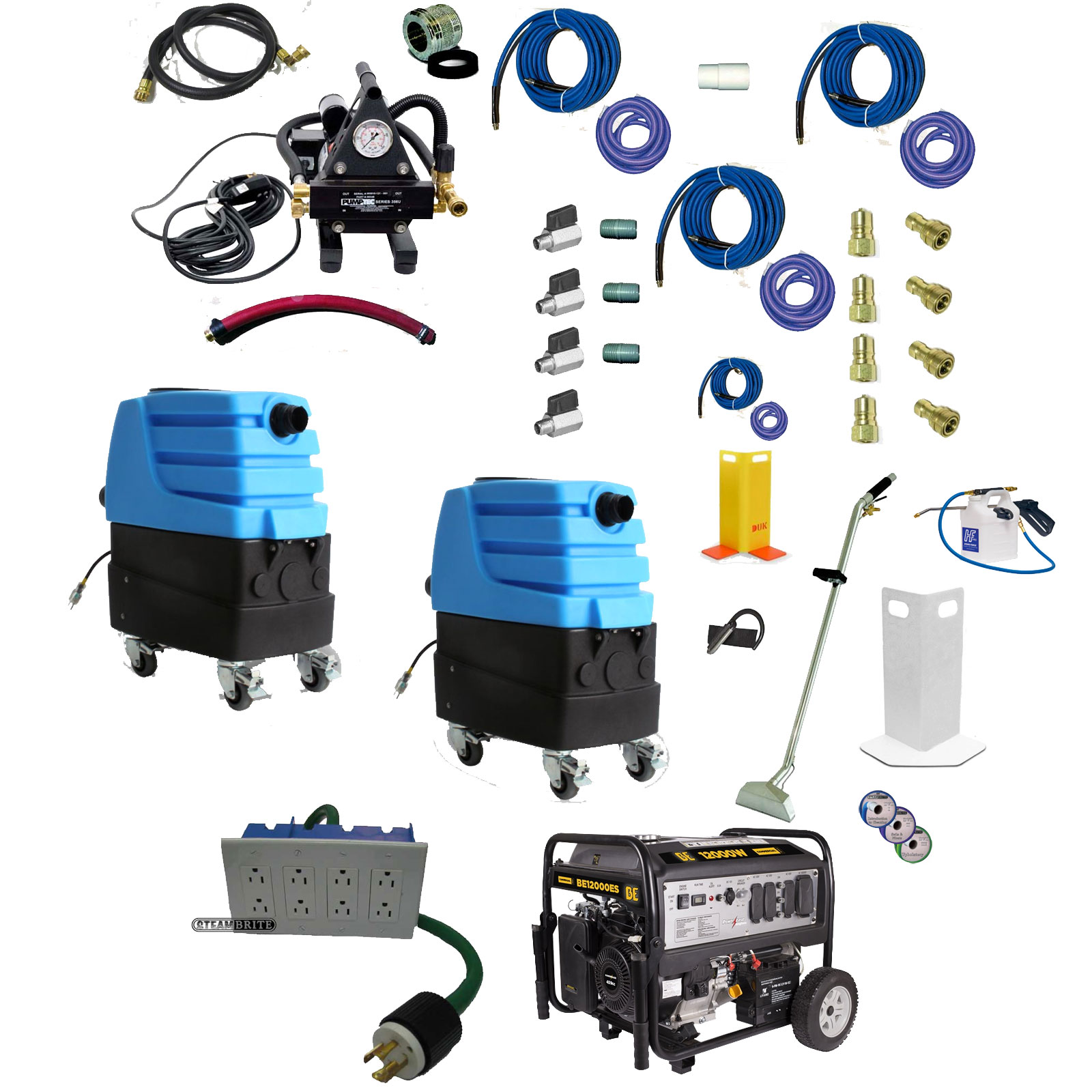 Escape From the Mytee Escape ETM Electric TruckMount Starter Bundle Package 20191120 Dual 7303LX 1200Psi 459cc Generator