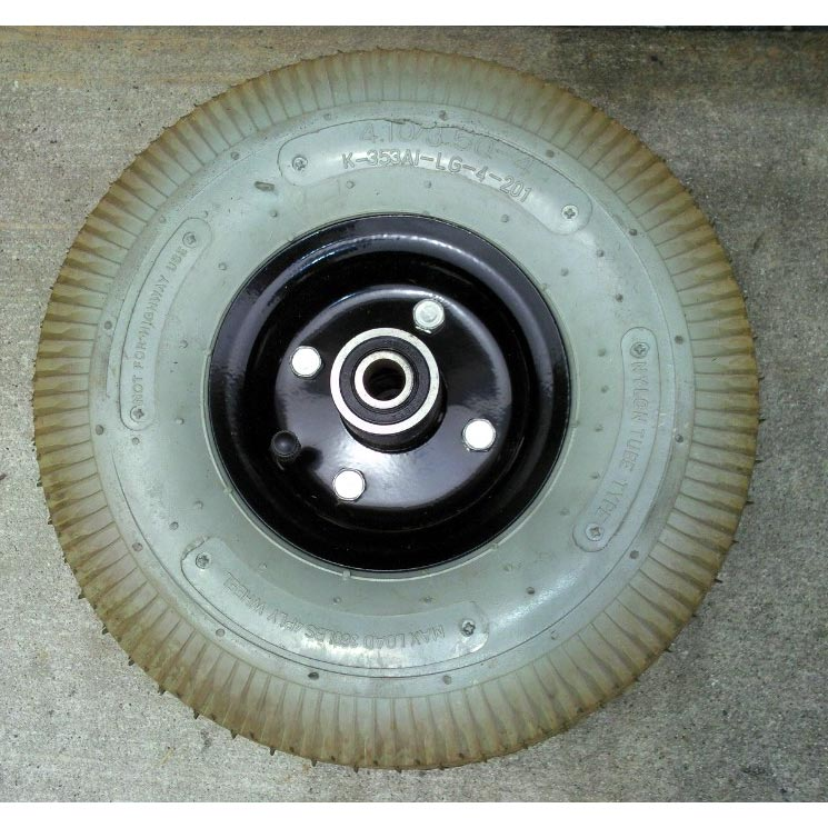 "Mytee H109 Wheel 10 inches 1/2"" hole Used on some M and LTD Series Extractors Non Marking Gray Color 4.10/3.50-4"