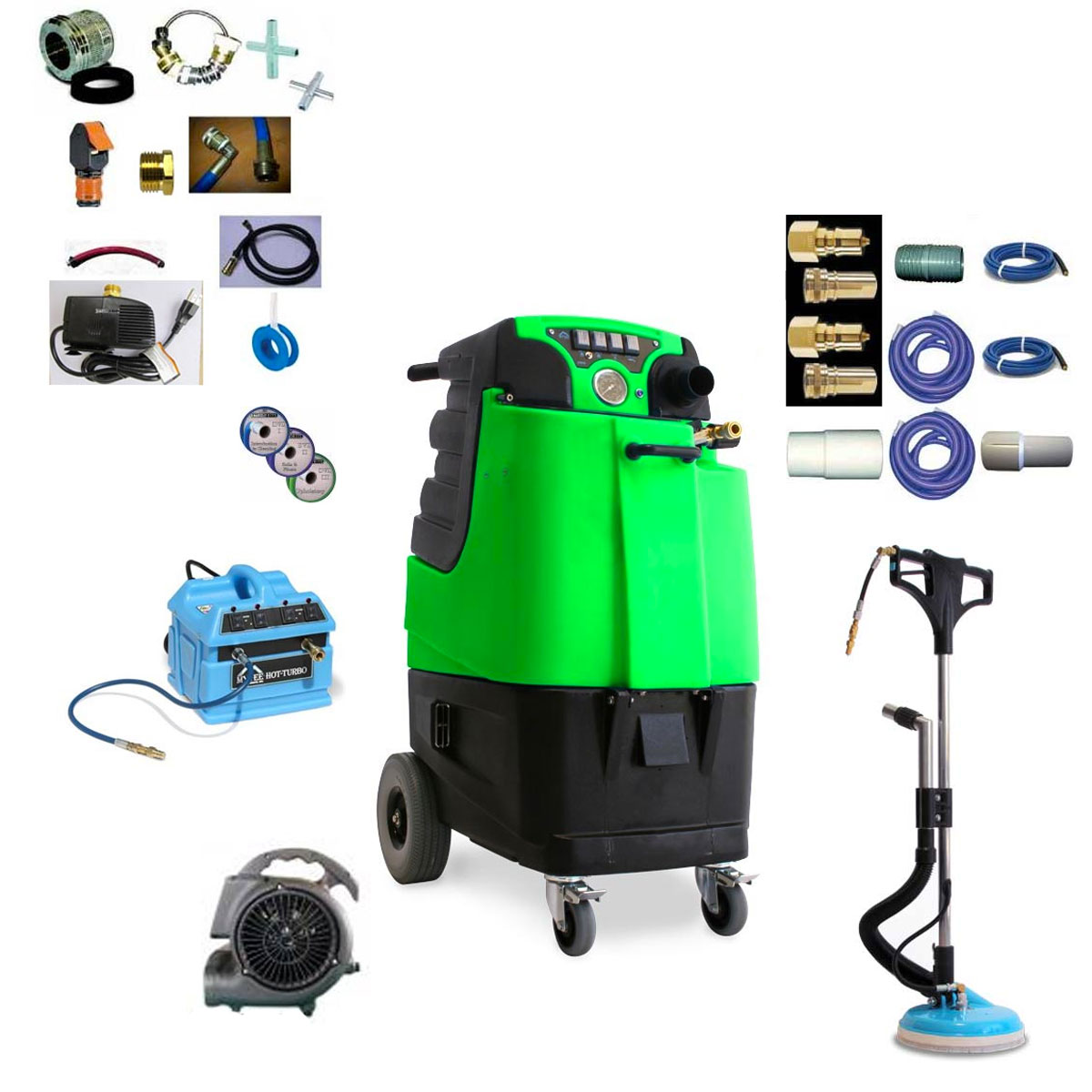 Mytee LTD12G-R Refurbished Speedster Tile Carpet Cleaning Machine 12Gal 1200psi Bundle 20191114 Serial REFB08170209