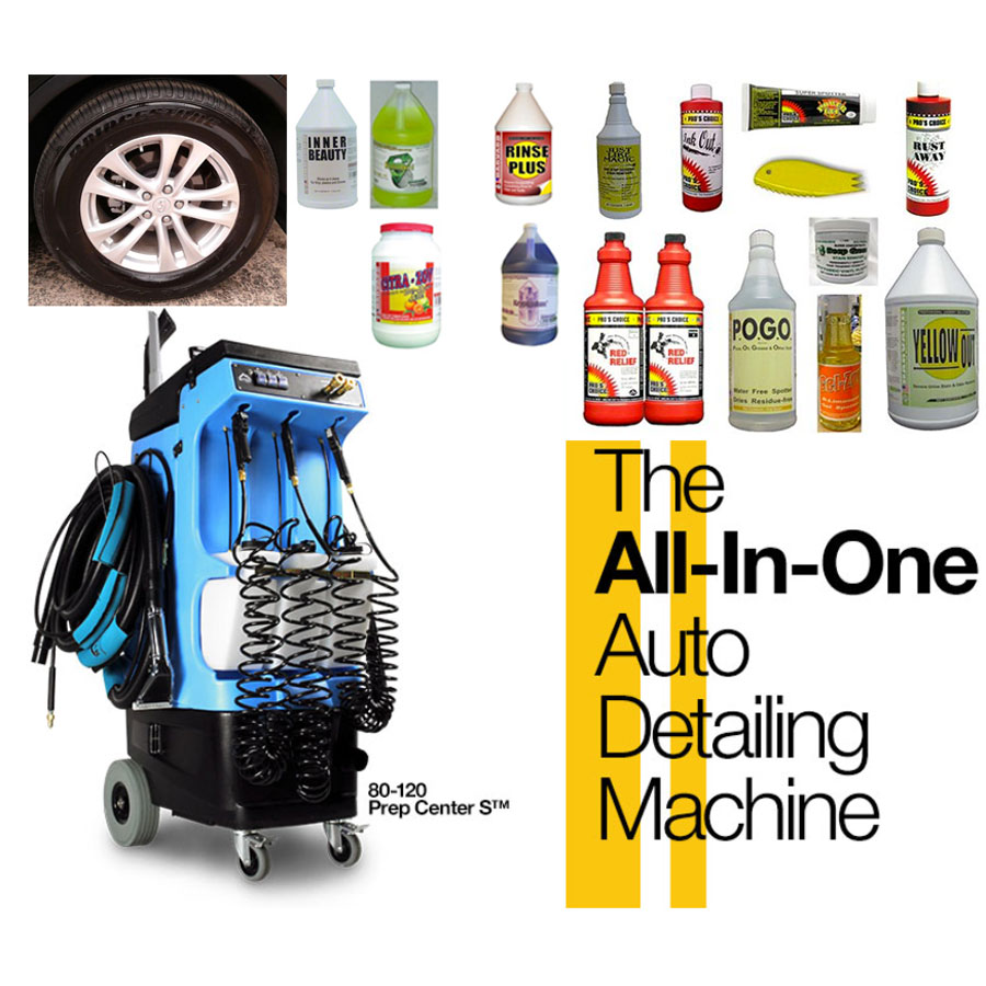Mytee 80-110-K Automotive Auto Detail Prep Center 120 psi Heated Open Spray Hand Tool Chemical start up Bundle Included