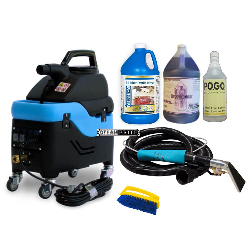 Mytee S-300H Tempo Heated Spotter Extractor 1.5gal 55psi 2 Stage Hand wand and hose set Starter Package S300H
