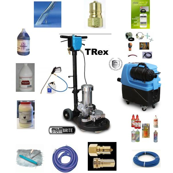 "Mytee Trex 15"" Power Wand Plus Hog 7300 High Flow Extraction Package"