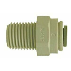 Plastic Polypropylene Male Push in Connector Fastners 1/2 mip X 1/2 in Push in Fitting 20063P