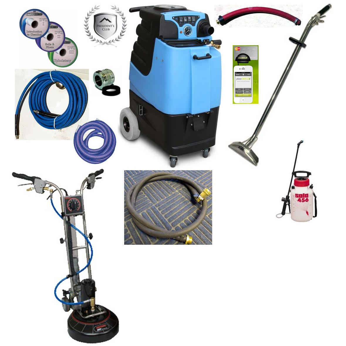 Rotovac 360i + Mytee LTD5 15gal 500psi Dual 3 Stage Vacs Auto Fill Auto Dump Carpet Upholstery Extractor Basic Starter Package