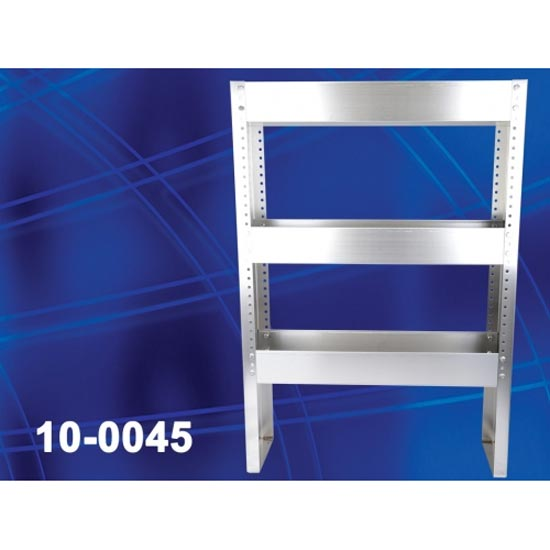 Westpak 10-0045 Narrow Chemical Van Shelf Stainless Steel 3 tier shelves 30in wide