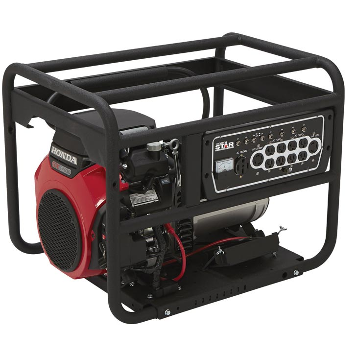 NorthStar Dual Fuel Portable Generator with Electric Start — 10,000 Surge Watts, 9450 Rated Watts, EPA and CARB Compliant, Model# 165956