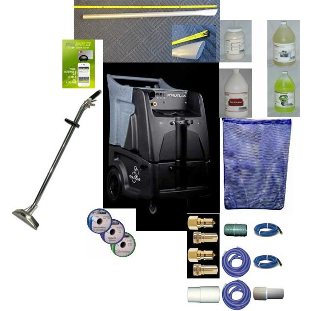 Nautilus MX3500RP 12gal 500psi Dual 3 Stage Vacuums Auto Dump Starter Package Bundle Carpet Cleaning Machine FREE Shipping