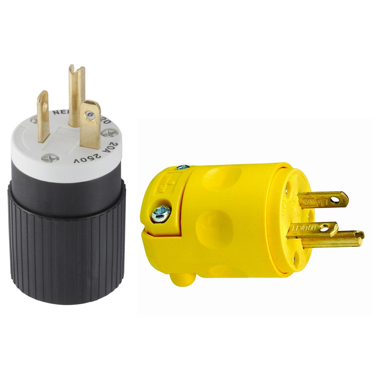 NEMA 6-20P Plug 20 amp 240 volt replacement end For 10 and 12 Awg ...