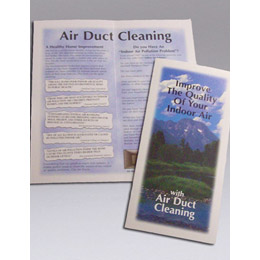 Nikro: 860452 Air Duct Cleaning Color Brochures (Pack Of 100)