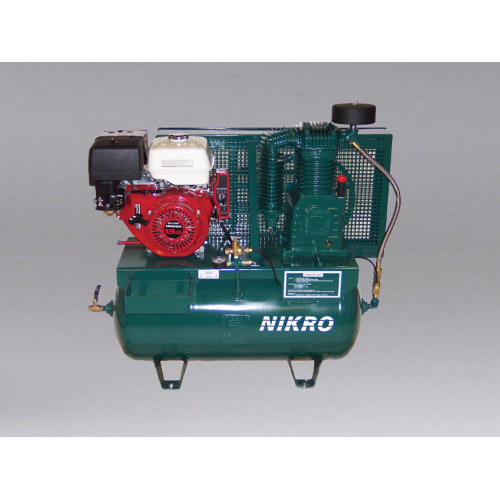 Nikro:  860756 - 13 H.P. Honda 2 Stage, Electric Start, 175 PSI Truck Mount Gasoline Compressor