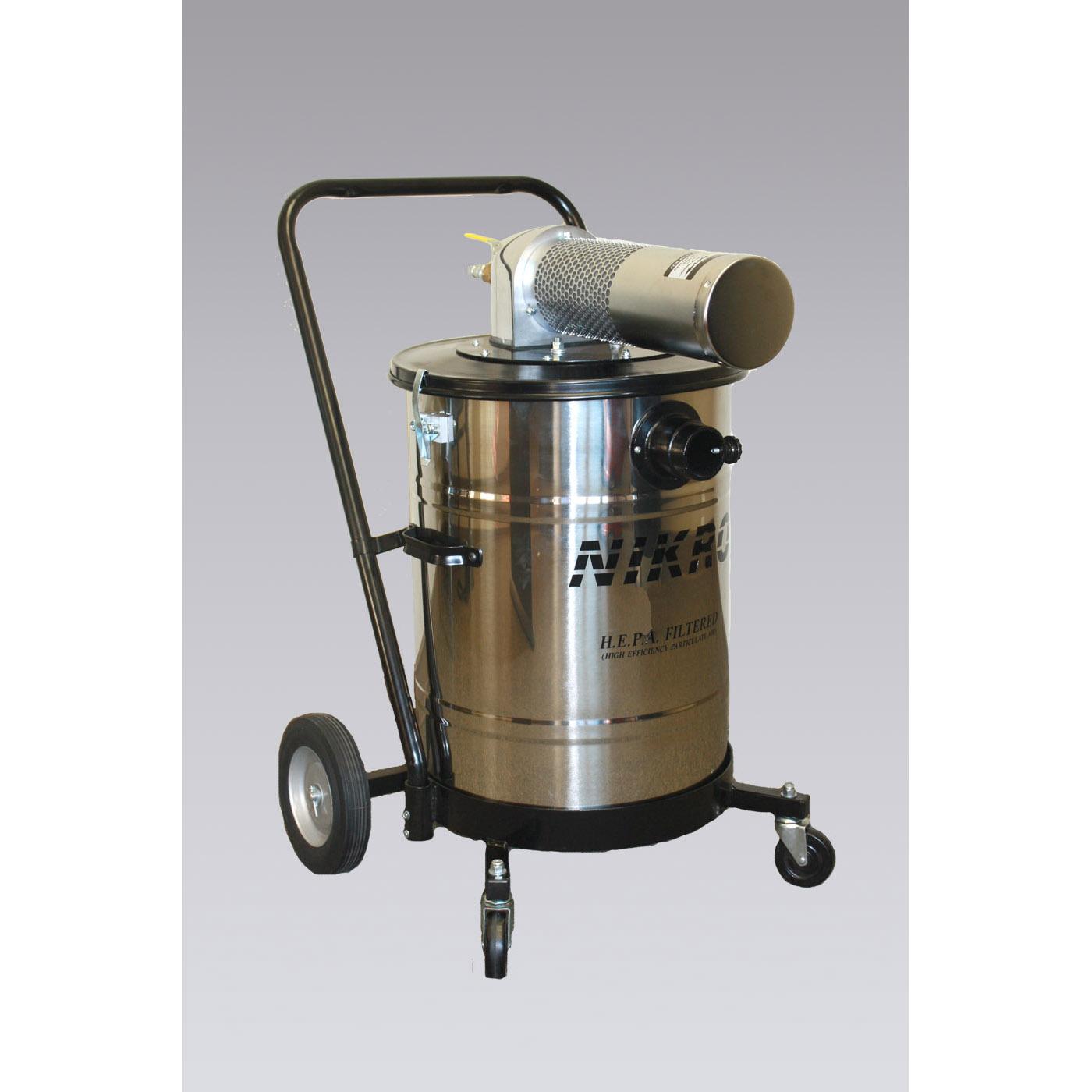 Air Powered Vacuum : Nikro ahd s stainless steel pneumatic vacuums