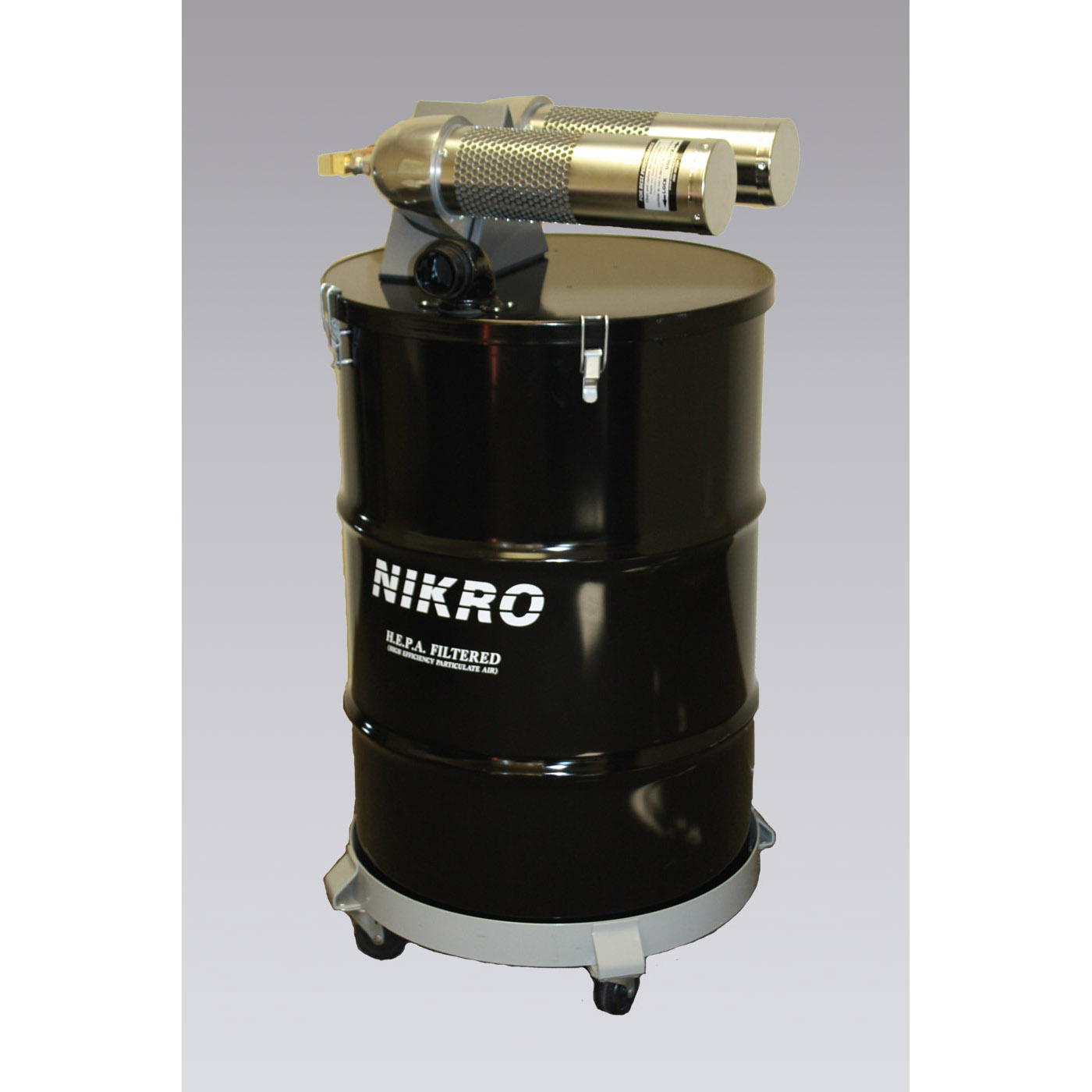 Nikro: AHD55TWN - Painted Steel Pneumatic Vacuum/ Compressed Air Powered Vacuum (HEPA)