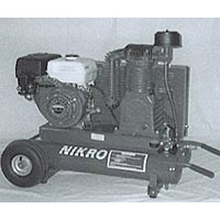 Nikro 8 HP Portable Gasoline Compressor (compressor only)