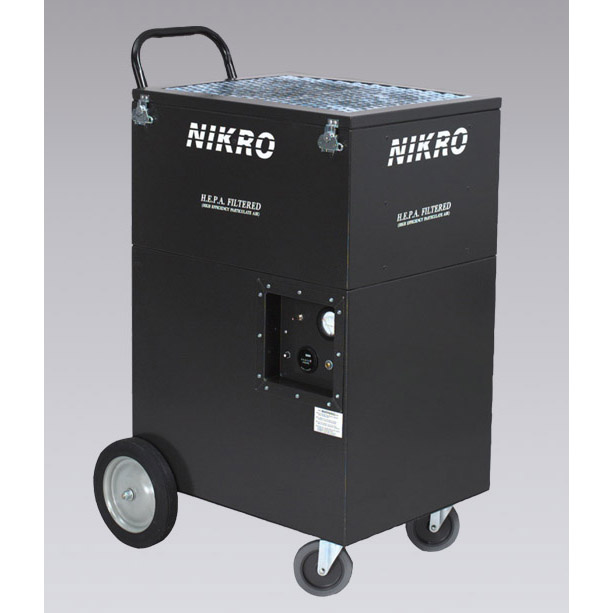 Nikro: Air Scrubber HEPA UA2005 3 Stage 2000 CFM Portable With Built In Dolly