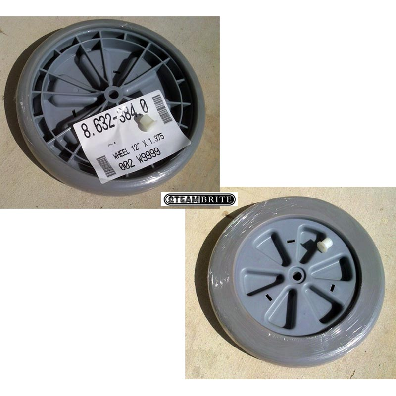 Century 400 Windsor Ind Ninja 12in Wheel For Carpet cleaning Machine 5/8in and 1/2in axles 89252, 98407770 EACH