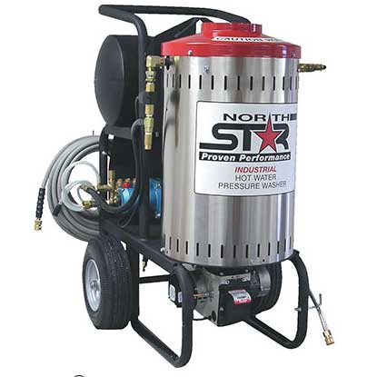 NorthStar 157306 Electric Wet Steam & Hot Water Pressure Washer 2700 PSI, 2.5 GPM, 230 Volt Converted For Carpet Cleaners