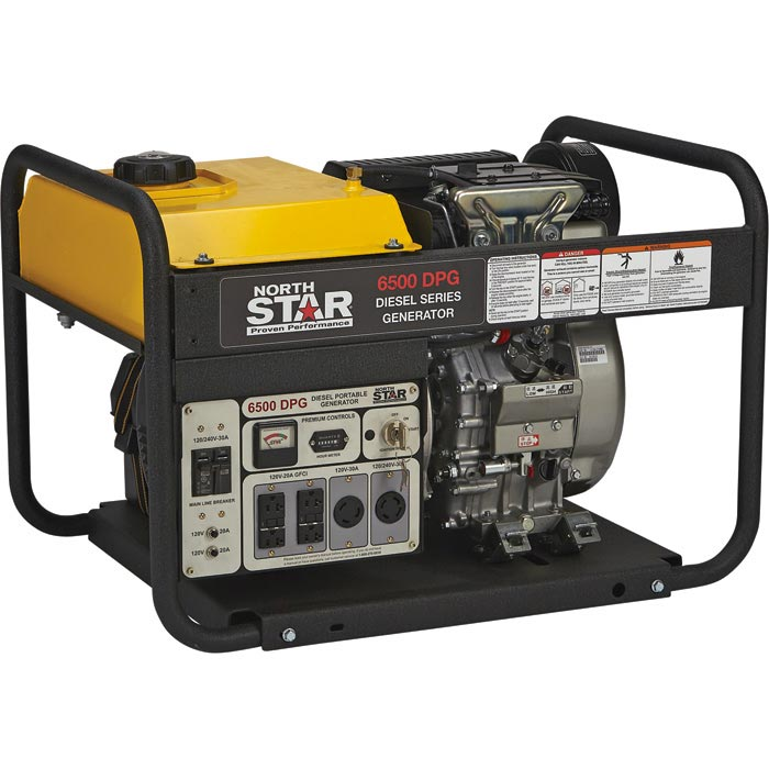 NorthStar 165165 Diesel Generator 6500 Surge Watts, 6120 Rated Watts, Electric Start, EPA Tier 4 Compliant