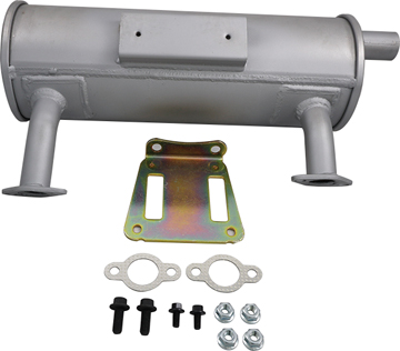 "Kohler 24 786 05-S Muffler Kit, Outlet Location: Discharge Oil Filter SIde Direction Straight C=4.5"" D=10.5"" used on CH18-22 CH620-680"