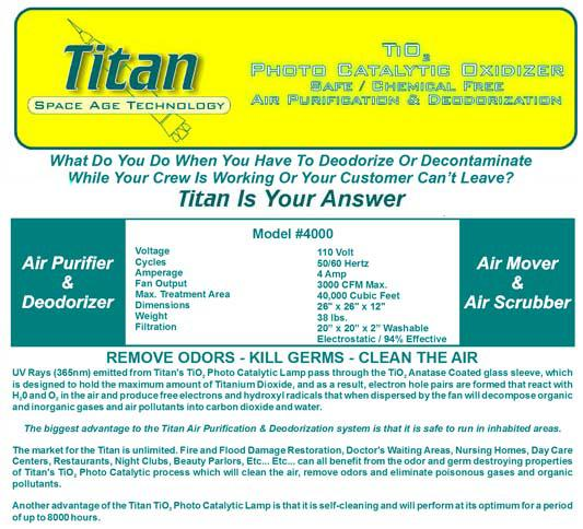 international ozone titan 4000 information