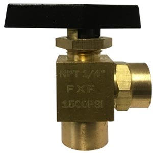 "Panel Mount 1/4"" Fpt 90 Degree Angle Brass Ball Valve 46878"